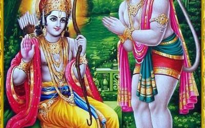 Ramayana story: Hanuman's snapping of fingers for yawning Rama!