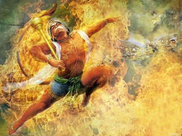 Holy name story: Hanuman burning death body's at Lanka!