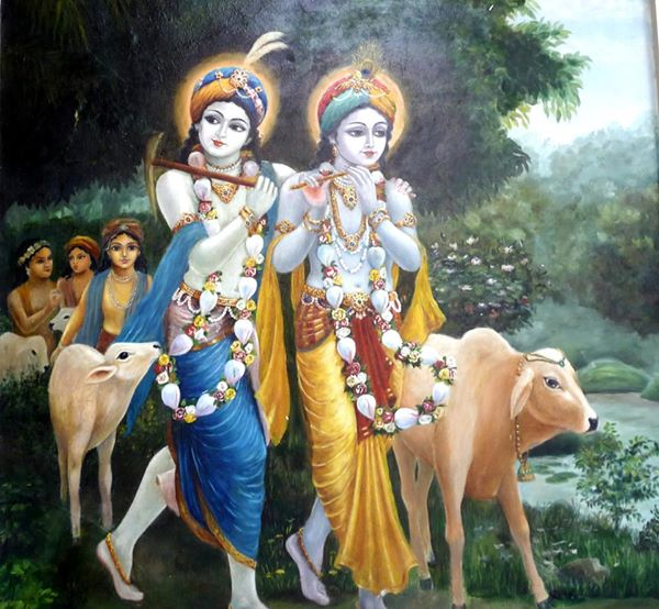 Bhagavad – Gita story: Krishna and Balarama take care of devotee
