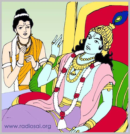 Dwaraka story: Krishna is sick and Narada Muni!