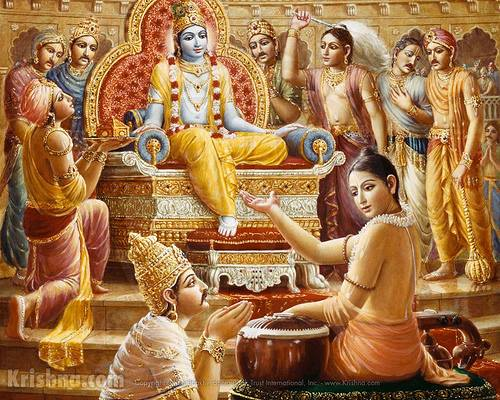 Story:Krishna asked Narada what is greatest thing?