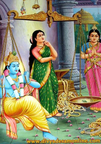 Narada Muni story: Satyabhama and power of holy name of Krishna!