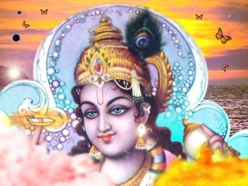 Narada Muni: Krishna and Narada visit to sage Lomasa Muni