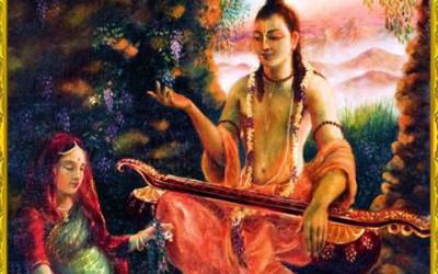 Narada Muni story: Narada Muni teachning Prahlad in womb of his mother