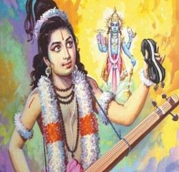 Narada Muni: Narada Muni and Krishna at travel!