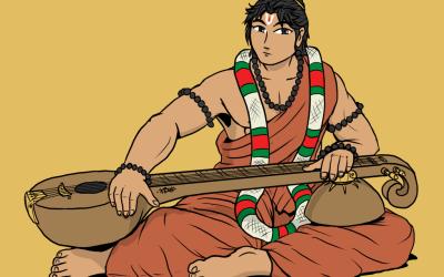 Narada Muni: Narada Muni by singing wrong melodies deformed ragas!
