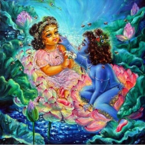 Krishna story: Krishna crossing wall to get to Radharani!