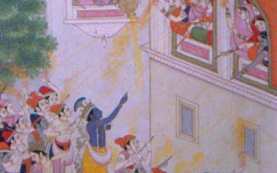 Krishna story: Krishna refusing Madhumangala to play HOLY!