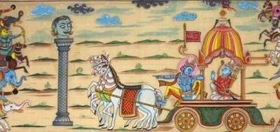 Mahabharata story: Barbarika watching Mahabharata war!