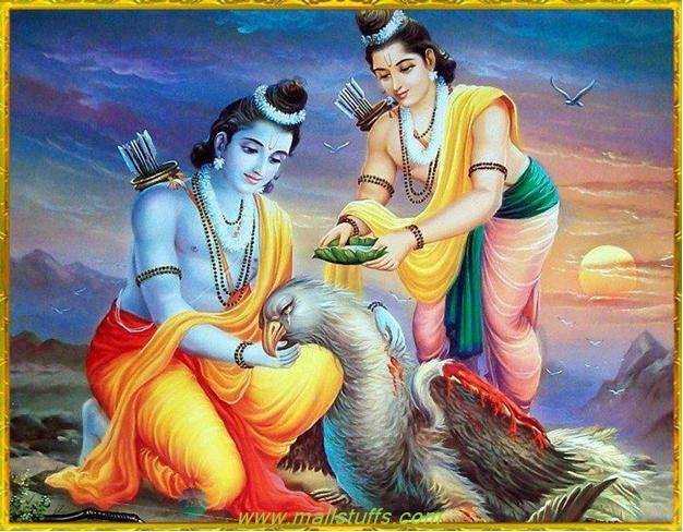 Ramayana lila: Jatayu and Lord Rama