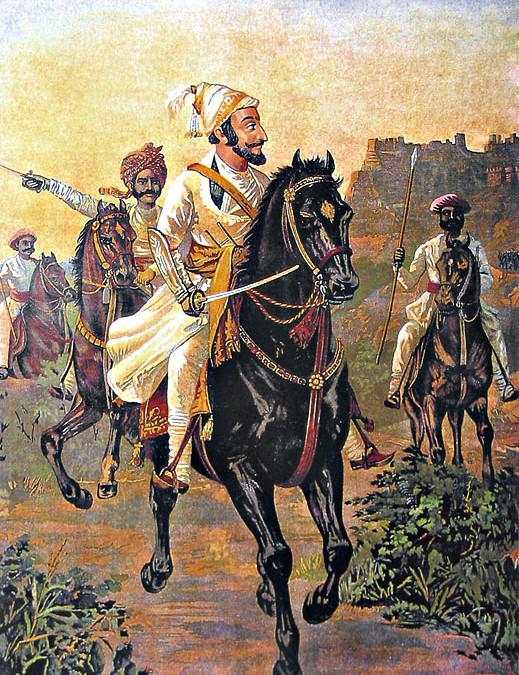 Shivaji listening kirtan of Tukaram